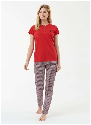 U.S. Polo Assn. U.S. Polo Assn. Pijama Takımı Kırmızı